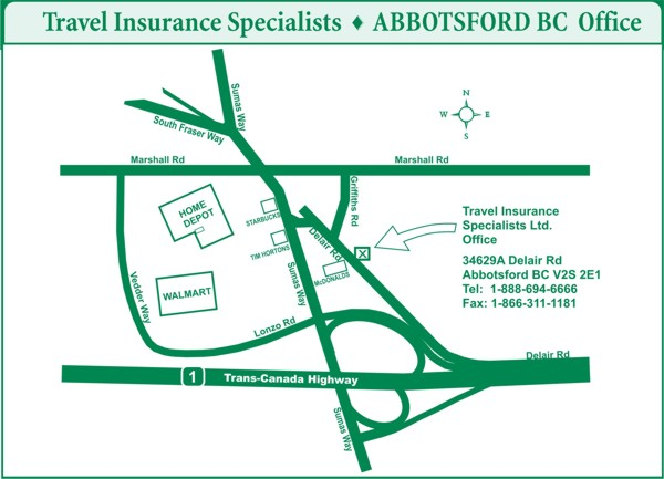 Travel Insurance Specialists Office - 34629A Delair Rd. Abbotsford BC